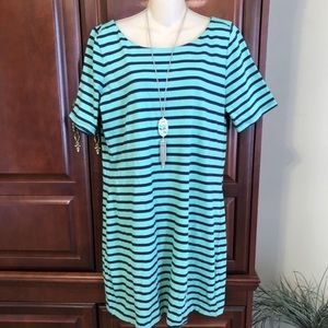 large GAP green and blue cute and comfy dress